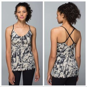 Lululemon Open Your Heart Tank Granite Black Mojav
